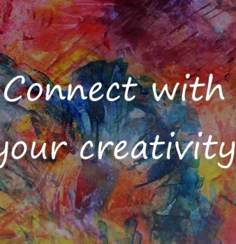 Connect with your creativity – distract a busy/anxious mind